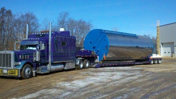 hauling a huge tank