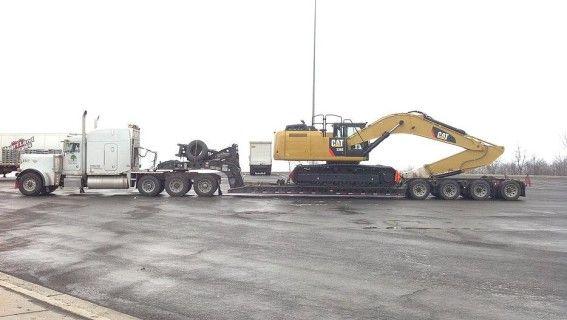hauling heavy equipment