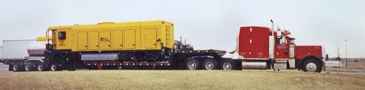 8 Axle Hauling Heavy Equipment