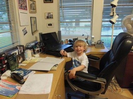 Our Youngest Employee (Grandson)